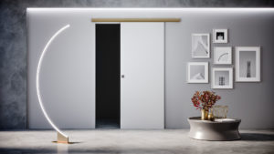 Porte per interni - Binario esterno muro